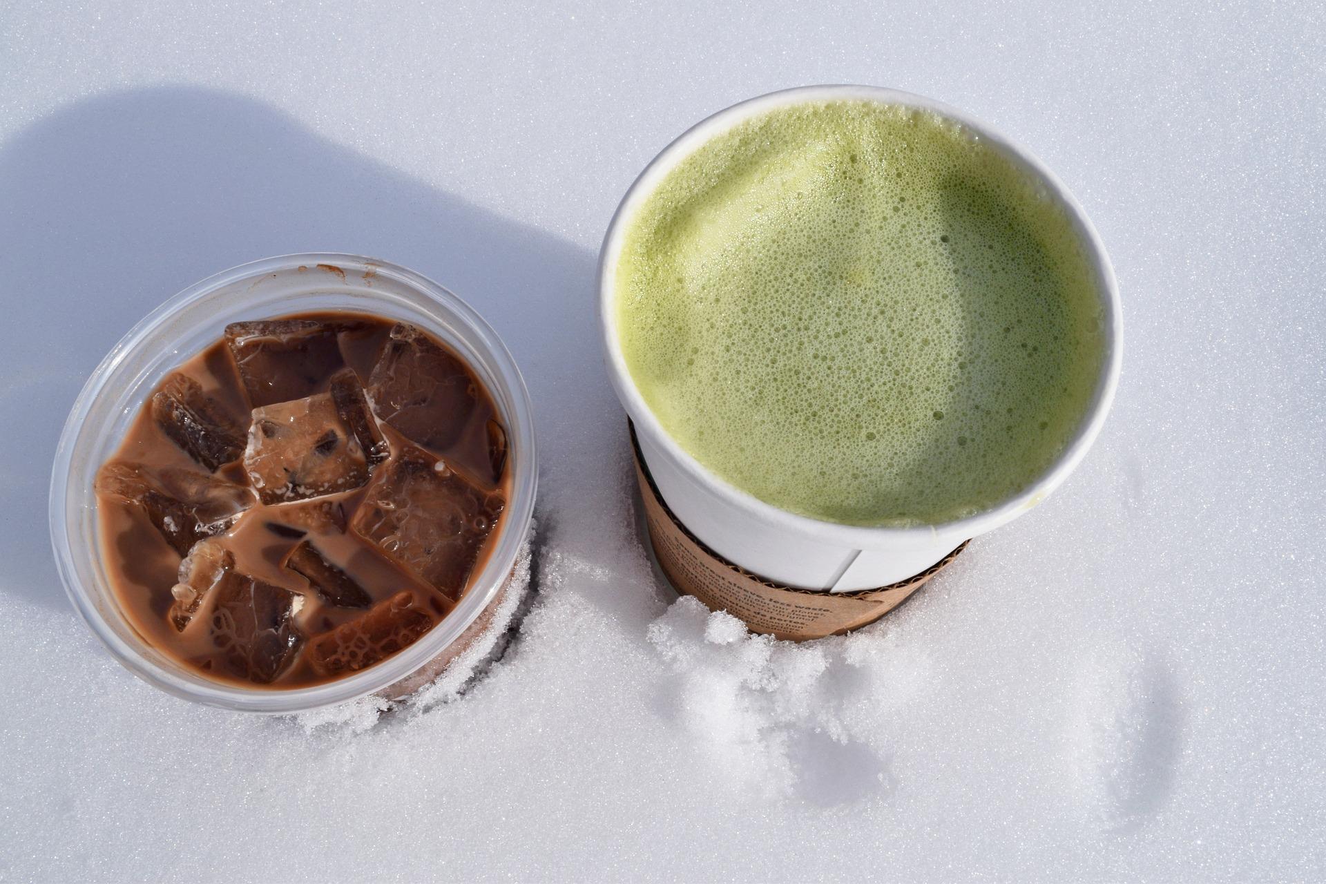 Coffee matcha latte